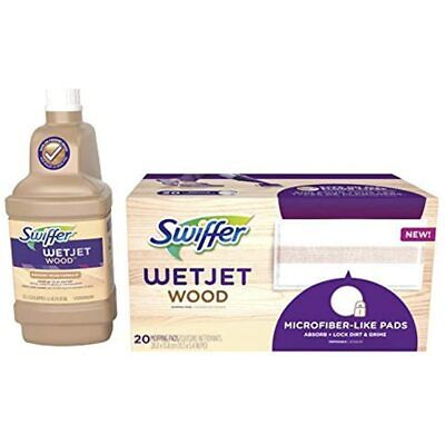 Swiffer WetJet Wood Floor Mopping And Cleaning Refill Bundle, All Purpose 20 1
