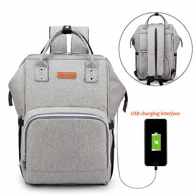 Baby Changing Backpack Nappy Diaper Bag Large Rucksack for Mums Baby w/ USB Port