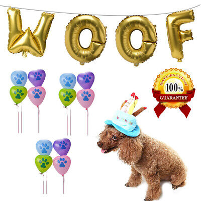Dog Birthday Party Decorations Kit - Pet Dog Puppy Birthday Supplies - Puppy Birthday Decorations