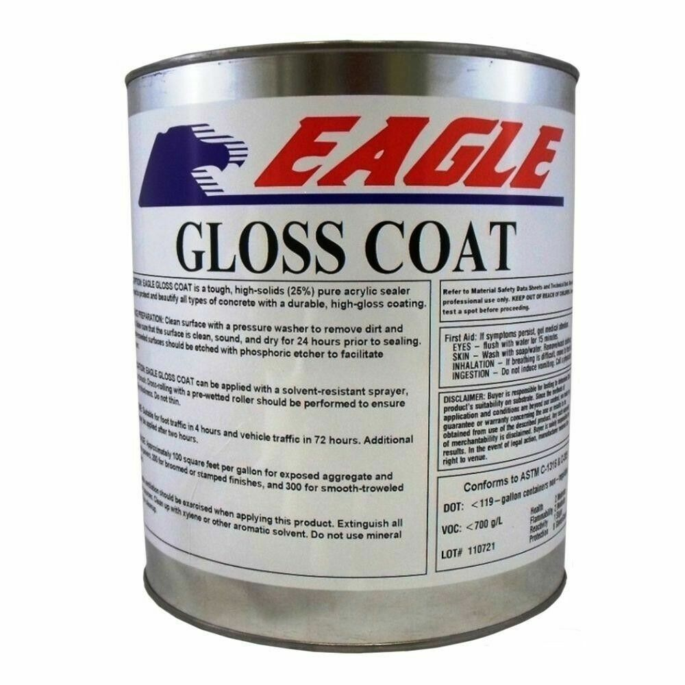 Concrete Sealer 1 Gal. Solvent Based Acrylic Gloss Coat Clear Wet Look Oil Base - $40.89