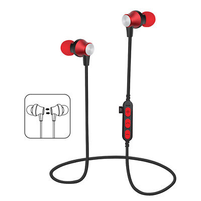Best Magnetic Rechargeable Stereo USB Wireless Bluetooth In-Ear Headset TF