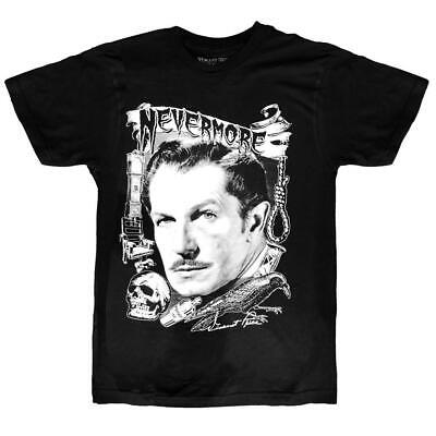 Vincent Price 2X Graphic Tee Shirt Classic Horror Goth Halloween Black Nevermore - Vincent Price Halloween
