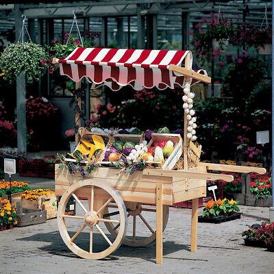 Promadino Marktwagen mit Baldachin weiß/rot (Baldachin Wagen)