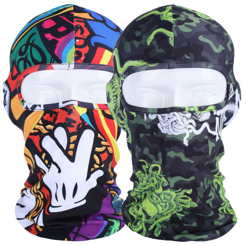 Balaclava Camo Full Face Mask UV Protection for Men Women Sun Hood for Outdoor
