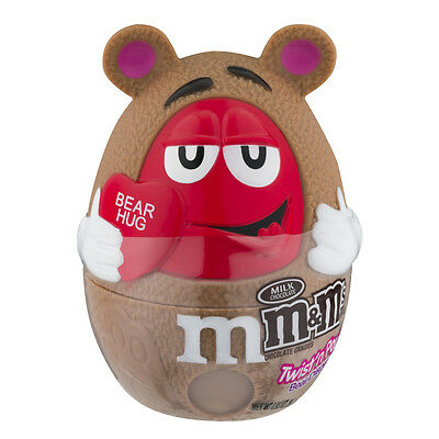 M Ms Valentine Twist And Pour Bear Hug Chocolate Candy Dispenser