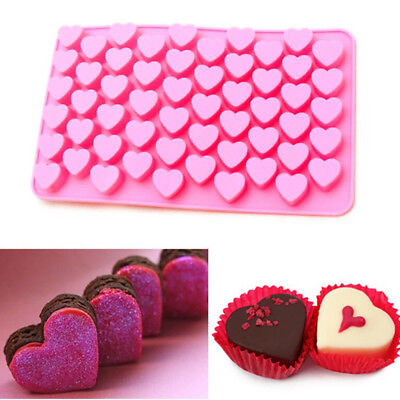 Silicone 55 Love Heart Mould Mold Chocolate Candy Gummy Maker Ice Jelly Tray for sale  Shipping to United States