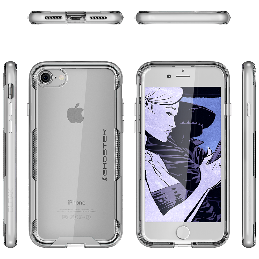 For iPhone 7 / iPhone 8 Case | Ghostek CLOAK Slim Clear Wireless Charging Cover