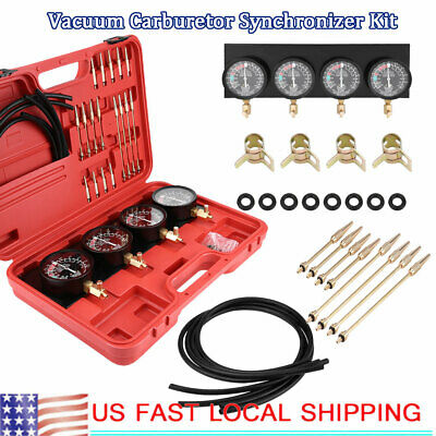 Motorcycle Fuel Vacuum Carburetor Carb Synchronizer Balancer Gauge Tools Kit (Carb Kit Motorcycle)