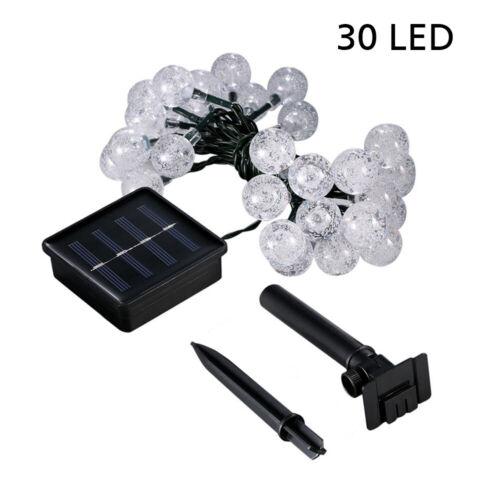 21FT Outdoor String Lights 30 LED Solar Bulb Patio Party Yard Garden Wedding 6