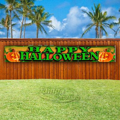 HAPPY HALLOWEEN Advertising Vinyl Banner Flag Sign LARGE HUGE XXL SIZES](Halloween Vinyl Banners)