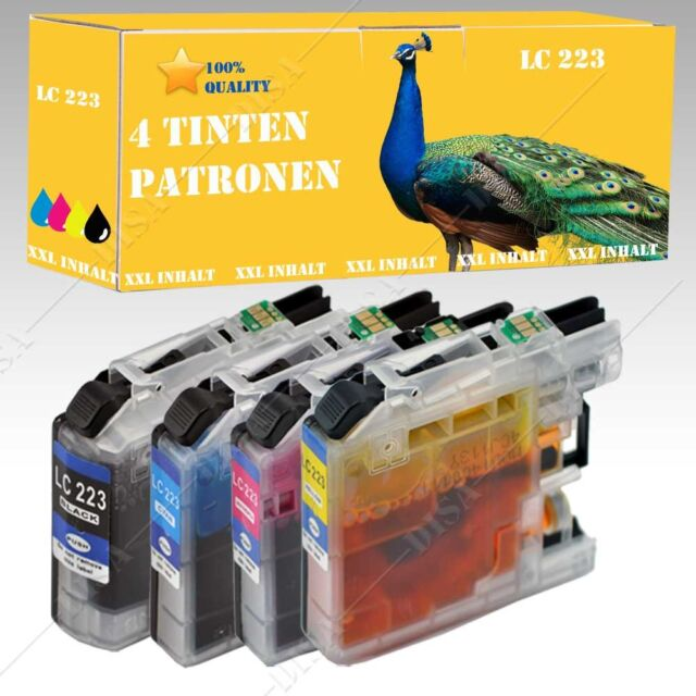 4x Ink XXL Version suitable for Brother MFC-J 5320 DW like LC223 LC225