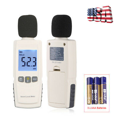 Digital Lcd Sound Level Meter Pressure Tester 30130db Decibel Noise Measurement