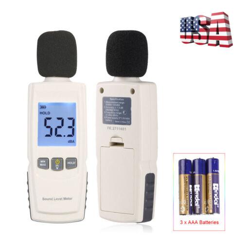 Digital LCD Sound Pressure Level Meter Tester 30~130dB Decibel Noise Measurement