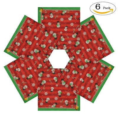 6 Pack 100% Cotton Bandanas Holiday Dog Christmas gift Snowman Printed For Pets - Bandana Pack