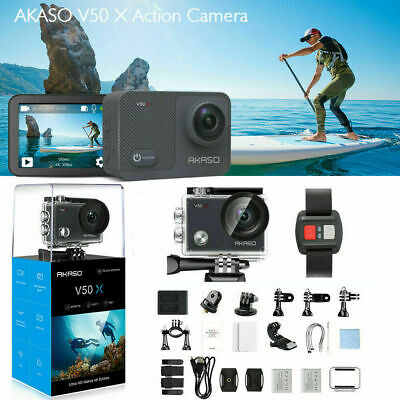 AKASO V50X Native 4K/30fps Action Camera Cam WiFi Eis Touch Screen w/ IR Remote