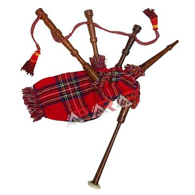 Rosewood Toy (New Mini Toy Bagpipe with Instruction Sheet Baby Rosewood Royal Stewart)