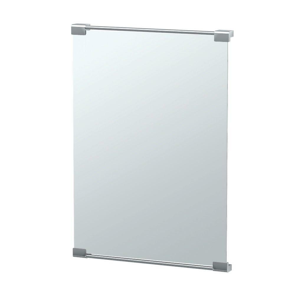 "Gatco Fixed Mount Decor Mirror 22"" x 30"" Framed Single Wall"