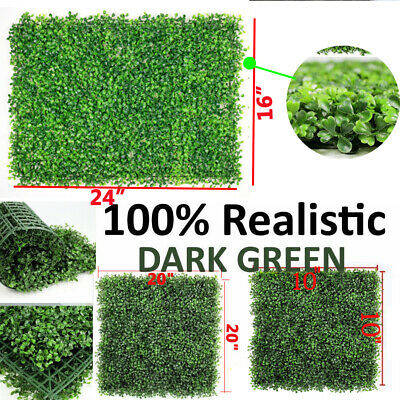24pcs&12pcs Artificial Boxwood Mat Wall Hedge Decor Privacy Fence Panel - Decorative Grass