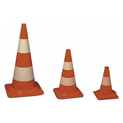 Verkehrsleitkegel PVC orange mit einem weißen Streifen 32cm 50cm 75cm