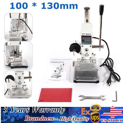 300w Digital Stamping Machine Hot Foil Pvc Leather Embossing Bronzing 1013cm Us
