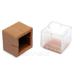 Chair table leg foot rubber covers floor protectors cap square