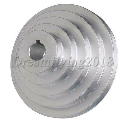 Aluminum Bore V Drive Timing Belt Pulley 5 Step 22mm-dia For Motor Shaft Drive