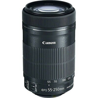 Canon EF-S 55-250mm f/4-5.6 IS STM Lens Objektiv NEU *TAX FREE* White Box Bulk