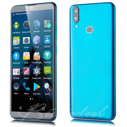 Android Phone - New 6 inch Blue Android Smartphone 3G Quad Core Dual SIM Unlocked Mobile Phone