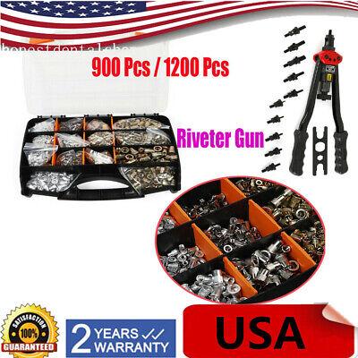 900-1200pcs M3-m12 Stainless Steel Nutsert Rivnut Kit Riveter Tool Mandrel Screw