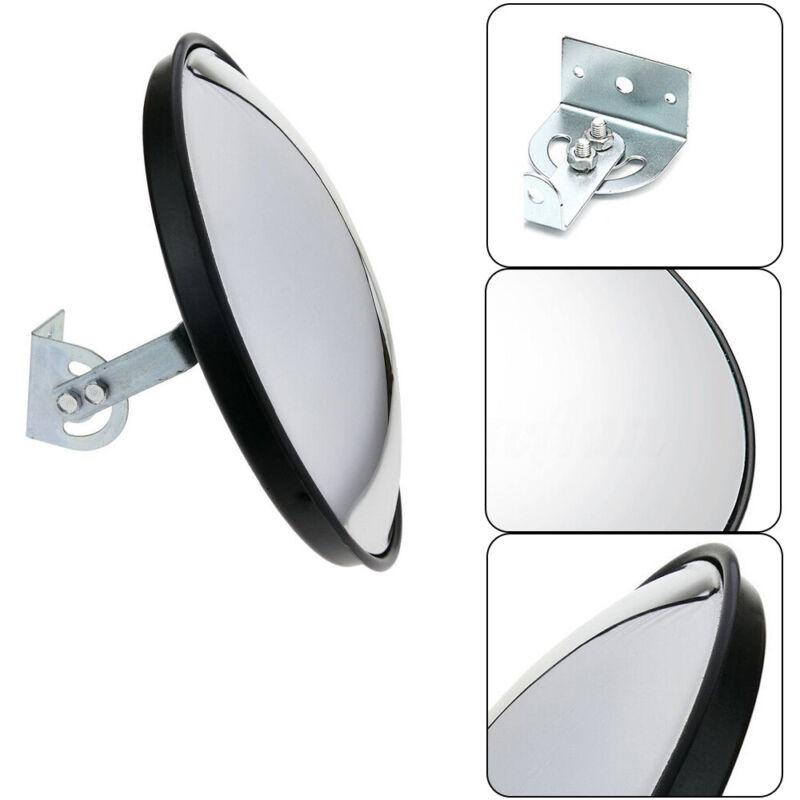 PC Convex Mirror 30cm Eliminate Blind Spots Prevent Accidents /Injuries Garages