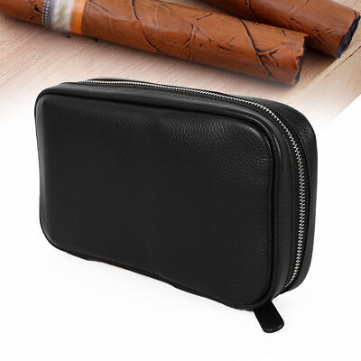 Hold 5 Cigars Cases Genuine leather cigar bag Travel Humidor With Gift Box