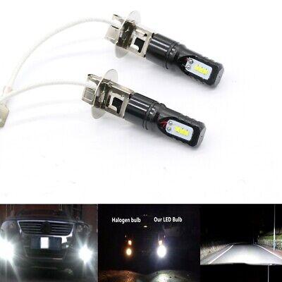 2x H3 6000K Super White CSP LED HeadLight Bulbs Fog Driving Lights 55W 6000LM comprar usado  Enviando para Brazil