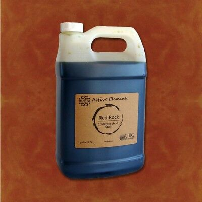 Terra Concrete - Official concrete acid stain red, orange, terra cotta color 1 gallon Red Rock