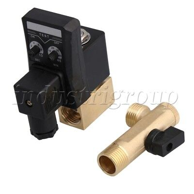 Ac 220v 12 Electronic Timed Air Compressor Automatic 2-way Drain Valve