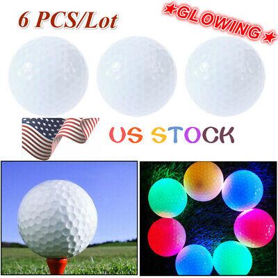 Glow In Dark Golf Balls (6Pcs/lot Glow Golf Balls Luminous Glow in the Dark Golf Balls Light Up US)