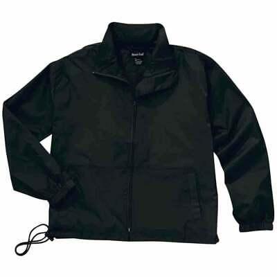 River's End Full-Zip Nylon Anorak  Athletic   Outerwear - Black - Mens Full Zip Windbreaker
