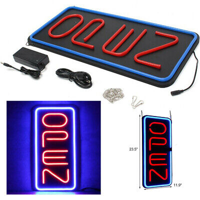 12x24vertical Neon Open Sign Light Night Wall Lamp Restraunt Bright Bar Club