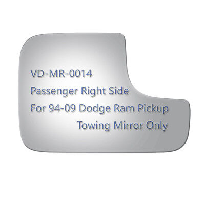 Tow Mirror Glass+Adhesive for 94-09 Dodge Ram 1500 2500 3500 VAN Pickup Side RH