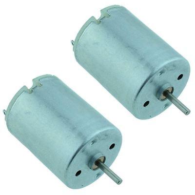 2 X High Torque Round Dc Motor 1.5v To 6.0v 9600rpm