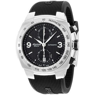 Alpina Avalanche Black Dial Silicone Strap Men's Watch AL700LBBB4A6