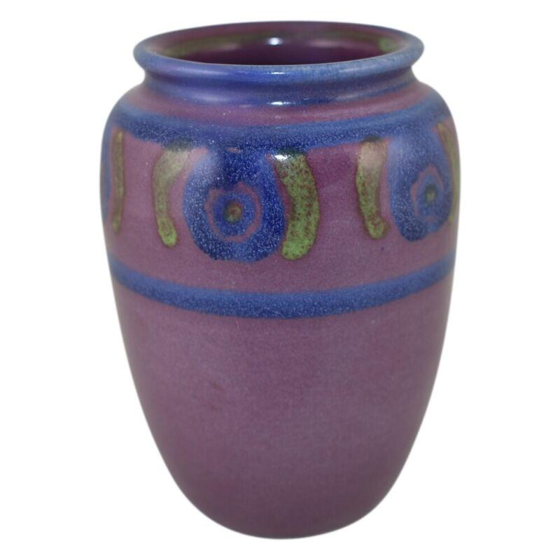 North Dakota School of Mines Pottery 1935 Floral Vase Hammers Huck 3840