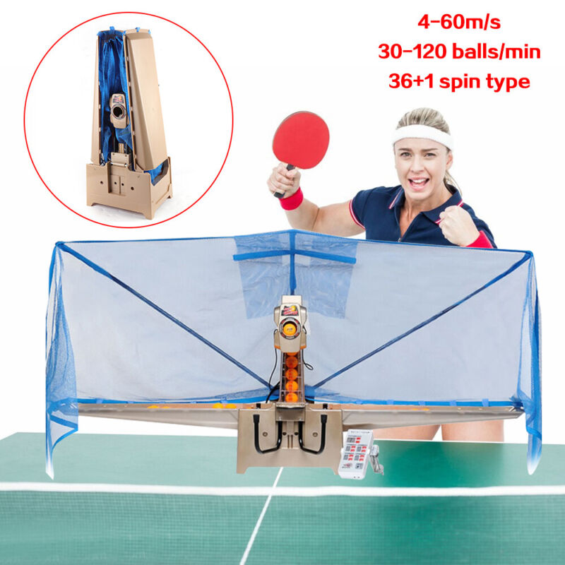 SALE! Automatic Table Tennis Robot Ping-pong Ball Training Machine 36 Type Spins