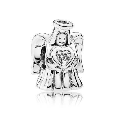 Authentic Pandora Charm Sterling Silver Angel of Love Clear CZ 792010CZ
