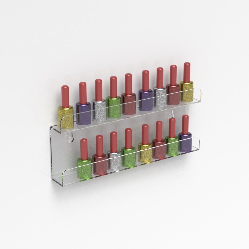 Details About Wall Mounted Acrylic Nail Polish Display Shelf Nail Varnish Bottle Stand Holder