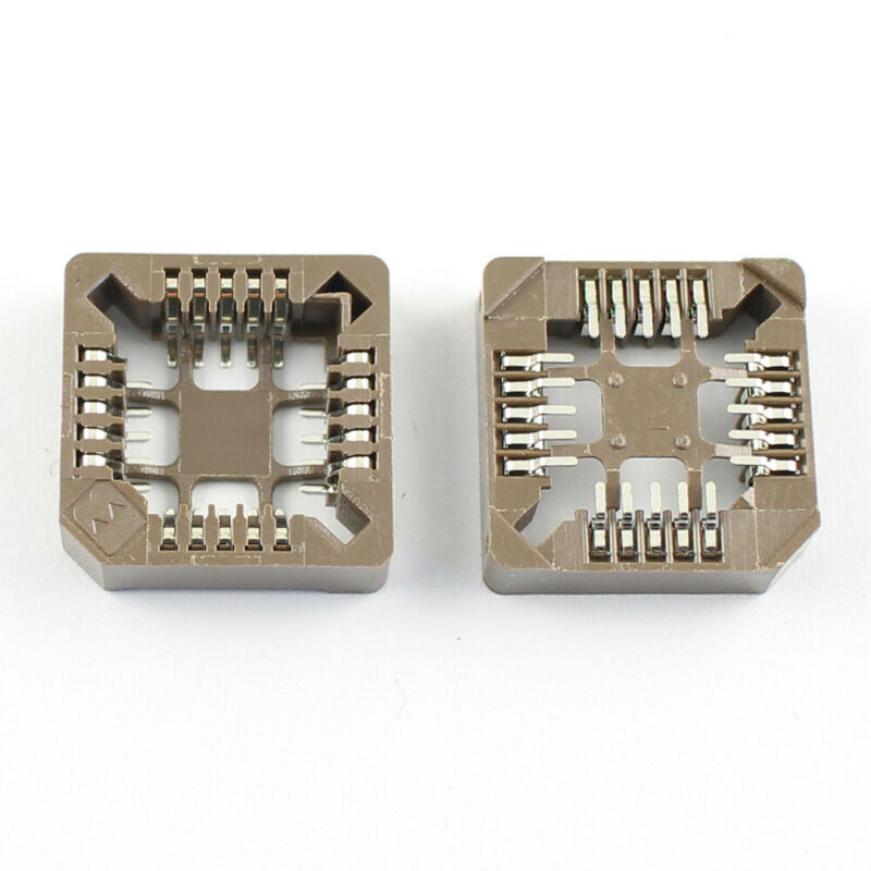10Pcs PLCC 20 Pin SMT SMD Surface Mount IC Socket Adapter Converter Connector
