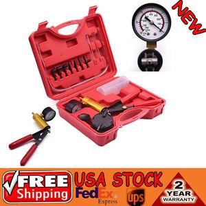Hand Held Brake Bleeder Vacuum Pump Tester Tool Kit Manual Pistol Pump