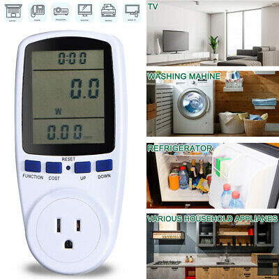 Digital Lcd Power Saving Energy Monitor Watt Amp Volt Kwh Meter Analyzer 0.5w