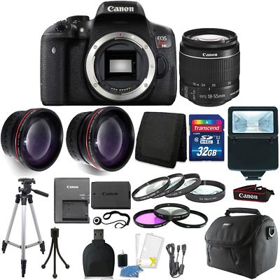 Canon EOS Rebel T6 DSLR Camera + EF-S 18-55mm IS II Lens Kit