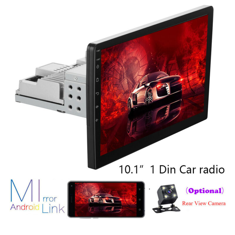 Android 10.0 10.1inch Single 1DIN Car Stereo Radio Player WIFI GPS Mirror Link