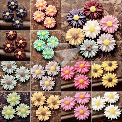New Assorted Resin Cabochons Flatback Sunflower Fit Cabochon Setting 13x13mm